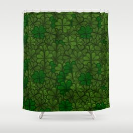 Field of Shamrocks Digital Art Pattern for Saint Patrick's Day Shower Curtain
