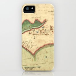 Vintage Map of Lima Peru (1702) iPhone Case