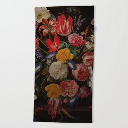 Vintage & Shabby Chic - Dutch Midnight Garden I Beach Towel