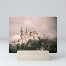 Basilica of Santa Maria la Real of Covadonga (retro) Mini Art Print