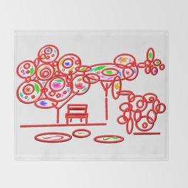 garth - garden pop colorful Throw Blanket