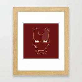 iron man face Framed Art Print