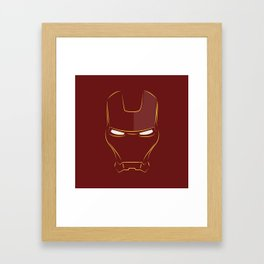 iron man face Framed Art Print