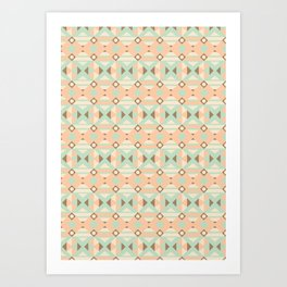 Ethnic Moroccan Motifs Seamless Pattern 18 Art Print