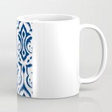 Ikat Damask Navy Mug