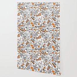 Charts Sketch Seamless Pattern Wallpaper