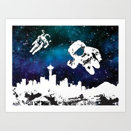 astro in seattle Art Print