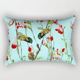 Blue Banded Bee Amegilla cingulata Rectangular Pillow