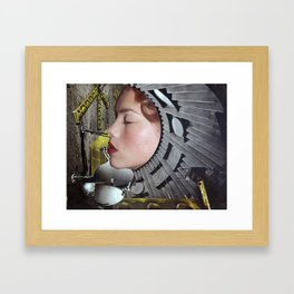 Ground Control  - Vintage Space Astronaut Collage Framed Art Print