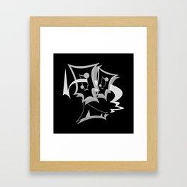 GiMMiCK BLACK SiDE ver. (Original Characters Art By AKIRA) Framed Art Print