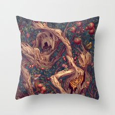Tree People Throw Pillow