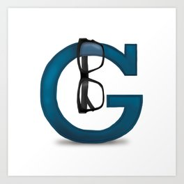 G is for Glasses Art Print