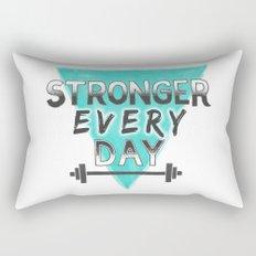 Stronger Every Day (barbell) Rectangular Pillow