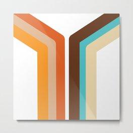 Geometric 70's Style Desig Metal Print