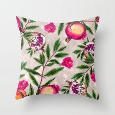 Pomegranate Pattern #society6 #decor #buyart Throw Pillow