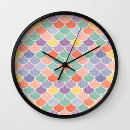 Watercolor Lovely Pattern VVXVIV Wall Clock