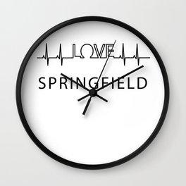 Springfield heartbeat. I love my favorite city. Wall Clock
