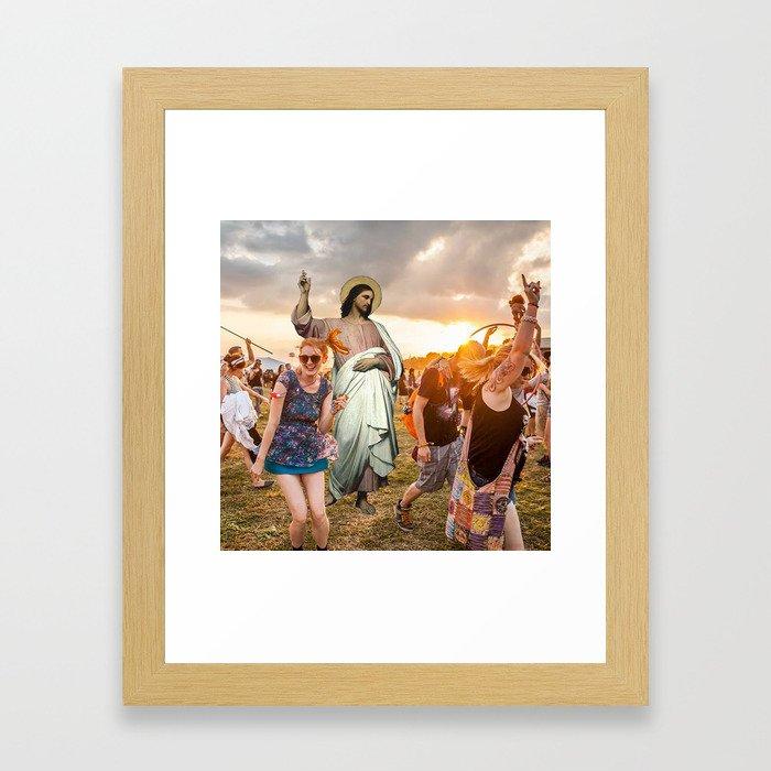 Jesus Raver Framed Art Print
