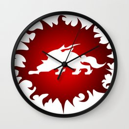 Amaterasu Logo- White Wall Clock