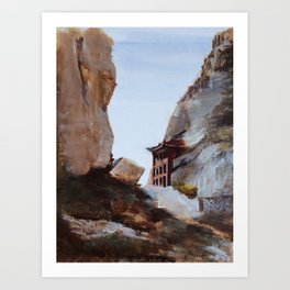 A Trip to Wutai Mountain Art Print