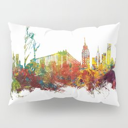 Colored New York City skyline Pillow Sham
