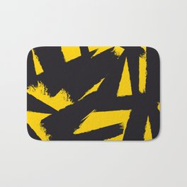 Amarelo Preto 01 Bath Mat