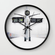 blizzard in Paris Wall Clock