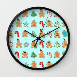 Naughty or Nice Gingerbread Wall Clock