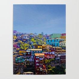 Cerro Artilleria, Valparaiso, Chile Poster