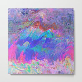 58-92-04 (pink waves rainbow glitch) Metal Print