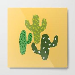 Cactus (Minimal) Metal Print