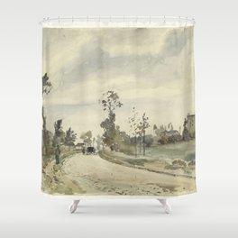 Camille Pissarro - Louveciennes, Route de Saint-Germain Shower Curtain