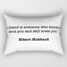 Elbert Hubbard Quote Rectangular Pillow