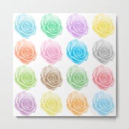 Colorful roses pattern Metal Print