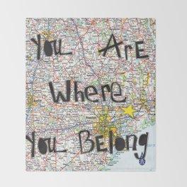 Where You Belong-Houston Throw Blanket