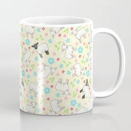 Ditsy Spring Sheep on lemon pattern Coffee Mug