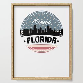 My City, My Home MIAMI, Florida Serving Tray