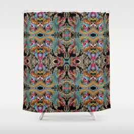 enter the dragon Shower Curtain