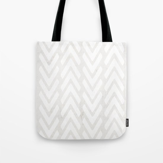 Chevron Tracks Tote Bag