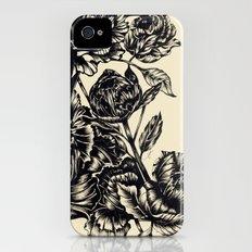 Peonies, black & white Slim Case iPhone (4, 4s)