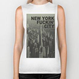 New york Fuckin' city Biker Tank
