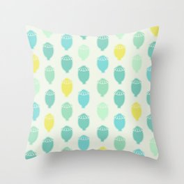 Poppy Seeds | Blue and green Palette Throw Pillow