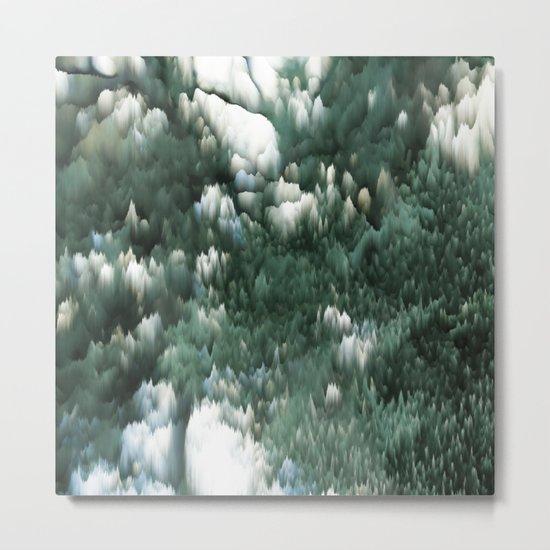 Ice and green Metal Print