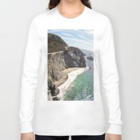 big sur Long Sleeve T-shirts featuring Big Sur Bridge by The Aerial Photography Shop