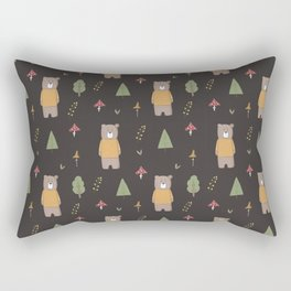 Bear in the Woods Rectangular Pillow