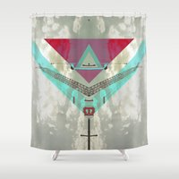 skyline Shower Curtains featuring Skyline by Mind Of Society
