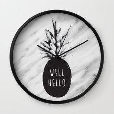 Well Hello Wall Clock