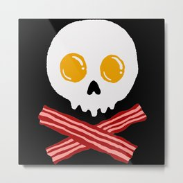 Hardcore Bacon & Eggs Breakfast Lover Metal Print