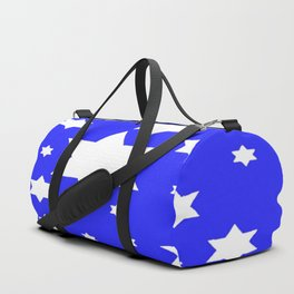 WHITE STARS ON BLUE DESIGN ART Duffle Bag