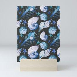 Sea Life Pattern 06 Mini Art Print